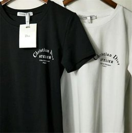 $enCountryForm.capitalKeyWord Australia - Hot luxury top Designer Brand Front and back printing logo tshirts Cotton t shirts for mens women Summer woman short Sleeves Tee clothing