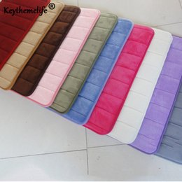 $enCountryForm.capitalKeyWord NZ - 40x60cm Memory Foam Bath Mats Bathroom Horizontal Stripes Rug Non-slip Bath Mats 10 Colors B