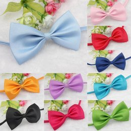 Tie Necktie Bow Dogs Australia - Fashion Bow Tie For Pet Cute Dog Puppy Cat Kitten Colorful Pet Toy Kid Bowknot Tie Necktie Party Dress Up Supply