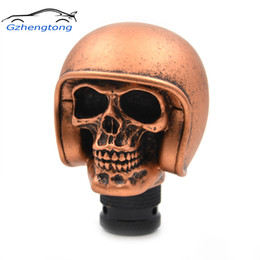Skull Lever Australia - Gzhengtong Carved Skull Universal Fit Car Auto Gear Stick Shift Lever Knob Golden Color Car Accessories Car Stying
