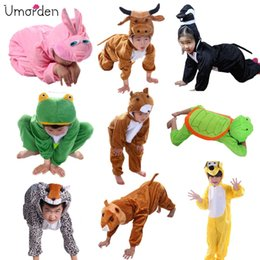 Wholesale costume batman Umorden Cartoon Children Kids Animals Costumes Cosplay Jumpsuit Lion Mouse Leopard Cat Halloween Animal Costume for Boy Girl