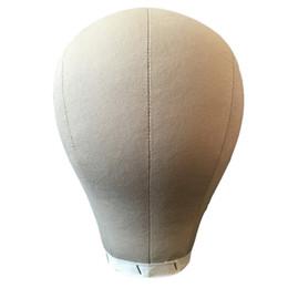 making wigs 2019 - Mannequin Model Cork Head Canvas Block Head Wig Cap Making Plate Bottom 21 22 23 24inch discount making wigs