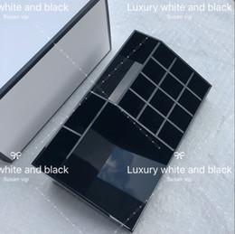 CC Klassische Acryl Schwarz Lippenstift Multifunktionale Ausstellungsstand Kosmetik Fall Werkzeug Mode Organizer Zubehör Aufbewahrungsboxen Geschenkboxen