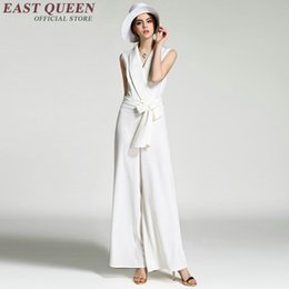 l x l clothing Australia - Elegant women jumpsuit Women business casual clothing Black or white color Chiffon business clothing AA2115 X