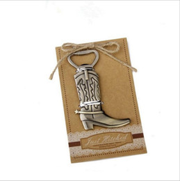 wholesale-New wedding favor cowboy boot bottle opener bridal shower favor  gifts guest souvenirs keepsake present 6f1f607aafaa