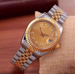 40 MM Lujo Relogio Diseñador de la Marca de Moda Producto Diamante Daydate Relojes Hombres Mujeres Fecha Nuevo Reloj de Acero Relojes de Cuarzo Para Hombres 279173 en venta