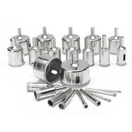 Großhandel Freeshipping 23 Teile / los 3-50mm Diamantbohrer Set Loch Glas Marmor Granit Sägeschneider Bohrwerkzeug