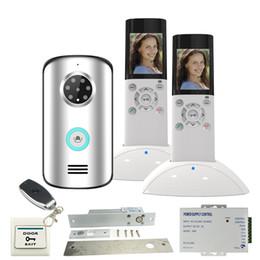 doorbell intercom system wireless 2019 - JEX 2.4G Wireless Video Intercom Door phone doorbell System KIT IP55 Waterproof IR Night Vision 120 degree Camera +remot
