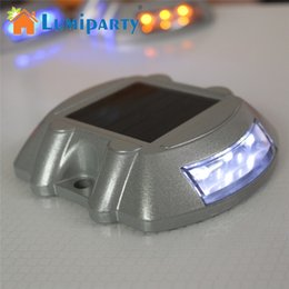 Driveway Casting Aluminum Road Stud Light Outdoor Solar Powered Lamp For Pathway Road Durable For Lighting Road Pathway Yard
