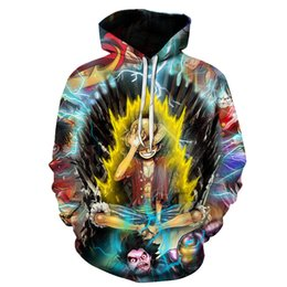 plus size cosplay 2019 - Men Anime Hoodies 3d Print Men's Hooded Sweatshirts 3d Pullover Outwear Luffy Ace Hoodies One Piece Cosplay Plus Si