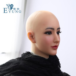 drag queen face mask 2021 - drag queen silicone mask Alice female Goddess Alice female face mask with light makeup for crossdresser Masquerade Hide facial scars