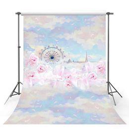 portrait photography backdrop 2019 - Customize love 3 D sky wonderland photo studio backgrounds for baby party portrait photography backdrops props cheap por