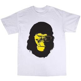 M Sunglasses Brands UK - Cool Ape T-Shirt 100% Cotton Sunglasses Monkey Primates Gorilla Chimpanzee Mens 2018 fashion Brand T Shirt O-Neck