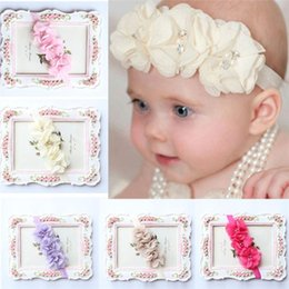 Accessories Fashion Baby Girls Headband Princess Lace Flowers Diamond Pearl Headbands Elastic Hairbands Accesorios Para El Pelo Great Varieties Hair Accessories