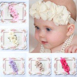Fashion Baby Girls Headband Princess Lace Flowers Diamond Pearl Headbands Elastic Hairbands Accesorios Para El Pelo Great Varieties Accessories