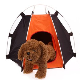 Discount nylon cage - Portable Fold Waterproof Camping Pet Tent Breathable Hexagon Fence Shelter Cat Dog House Cage Tent Pet Playpen Outdoor S