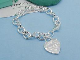 $enCountryForm.capitalKeyWord Australia - linlin Celebrity design Silverware bracelet Women Letter Heart-shaped Chain Bracelets Jewelry With dust bag Box