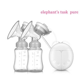 Wholesale Double Electric breast pumps Powerful Nipple Suction USB Electric Breast Pump with baby milk bottle Cold Heat Pad Nippl