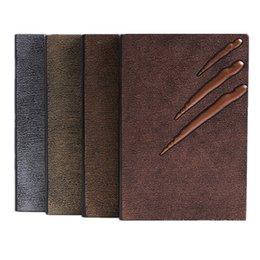 $enCountryForm.capitalKeyWord UK - Vintage Notepads Leather Embossing Notebook Paper Wood-free paper 120 Sheets Daily Memos and Accounts Recording Financing 14.5*21.5 cm
