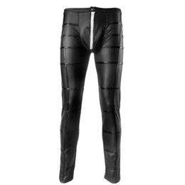 6e0af1dc159 Discount men tight leather leggings - sexy Men s Faux Leather Pants Men s  Long Trousers latex Novelty