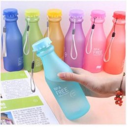 unbreakable plastic Australia - Water Bottle Candy Colors Unbreakable Frosted Leak-proof Plastic Kettle 550mL Portable For Travel Yoga Running Camping