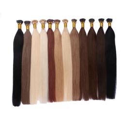 Chinese  100% Human Hair Brazilian Indian Cambodian Mongolian Peruvian Straight Hair I Tip Hair Extensions 8-22 inch FDSHINE manufacturers