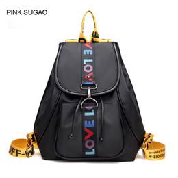 Small waterproof tote bag online shopping - Pink sugao backpack women designer backpacks school bags shoulder backpack school bags for teenage girls waterproof nylon tote bag color