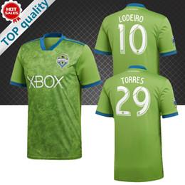 f90e02a7e MLS 2018 Seattle Sounders Soccer Jersey home soccer Shirt DEMPSEY TORRES  ROLDAN LODEIRO MORRIS 18 19 Customized football uniform