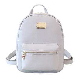 5b189b97e8 Discount back school girl backpacks - Brand designer Women Backpack Small  Size Black PU Leather Women s