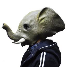 elephant masks 2019 - Halloween Mask Adult Animal Elephant Full Latex Masquerade Party Masks Fancy Dress Silicone Christmas Free Shipping chea