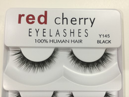 Human Lashes NZ - False Eyelashes 100% Human Hair Red Cherry Fake Lashes 5 pairs each set Black color 8 styles available DHL Free
