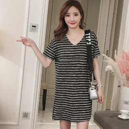 a45e011ae42 V Neck Striped Maternity Nursing Long Tees 2018 Summer Fashion T-shirts  Clothes for Pregnant Women Pregnancy Feeding Tops