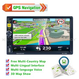 Gps Hd Australia - 7'' Navigator Car Gps navigation Car Radio 2 Din Bluetooth Hand Free MP5 Player HD Touch Screen AUX Fm Free Map