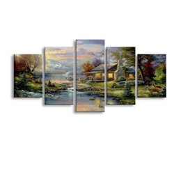 $enCountryForm.capitalKeyWord Australia - 5 pieces high-definition print Landscape canvas oil painting poster and wall art living room picture PL5-231