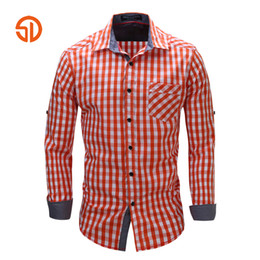 Discount dress clothes for plus size - Plaid Dress Shirts For Men Clothes 2018 Buon Down Office Shirts Mens 100% Coon Checked Shirt Brand Clothing Male Plus Si
