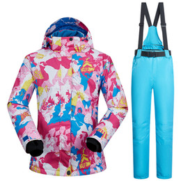 $enCountryForm.capitalKeyWord NZ - Women's Ski Suit Waterproof 10000mm Women Skiing Jacket and Suspender Trousers Set Outdoor Singel Double Board Snow Clothes