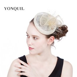 veils for church NZ - 2017 New hairstyle in fascinator hats base veils decoration popular women hair clip for holiday derby wedding church hats headpiece SYF200