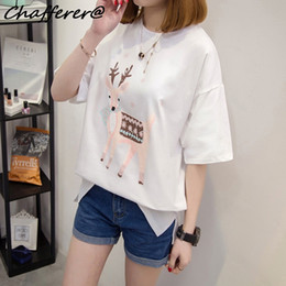 72969cd6bbf Chafferer Summer Print Animal Solid T Shirt Women Loose Korean Style  Ulzzang White Vintage Tshirt Casual Slim Half Sleeve Tops