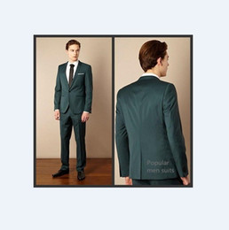 designer tuxedos men NZ - 2018 Green Mens Suits Slim 2 Pieces Sets Italian Stylish Designer Party Suits Costume Homme Mariage Tuxedos (Jacket+Pants)