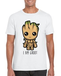 """Cute Baby White T Shirt Australia - """"I Am Groot"""" Cute Baby Groot Guardians of The Galaxy 2 Inspired T-shirt - White"""