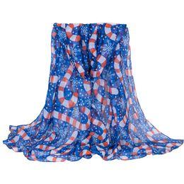 White Pashmina Cotton Canada - New Fashion Cotton Voile Scarf Pashmina Shawls Wraps For Women Floral Polka Dot Women's Scarves Summer