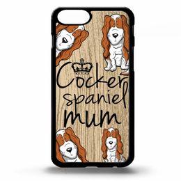 $enCountryForm.capitalKeyWord NZ - Cocker Spaniel Mum Dog Puppy Phone Case For Iphone 5c 5s 6s 6plus 6splus 7 7plus Samsung Galaxy S5 S6 S6ep S7 S7ep