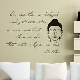 Bathroom Wall Sticker Quotes Australia - Buddha Statue Wall Stickers Quotes Vinyl Art Decals Removable Home Decor Wall Mural DIY Stickers For Wall