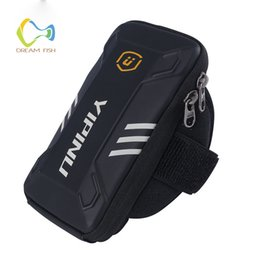 Discount 5.3 inches phones - 5 inch Waterproof Armband Fitness Bag for huawei mate 10 lite holder mobile phone for xiaomi mi7 redmi note 3 Arm wrist