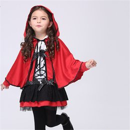 2018 cute girl halloween costume childrens cloak costume girl red little devil cosplay performance childrens wear
