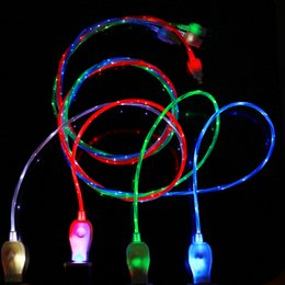 $enCountryForm.capitalKeyWord UK - Flowing LED Visible Flashing USB Charger Cable TPE 1M 3FT Data Sync Colorful Light Up Cord Lead for Samsung HTC Blackberry All smartphone