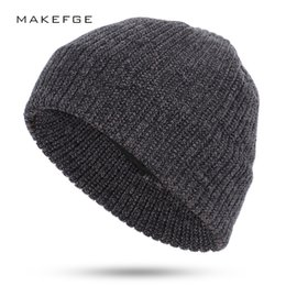 Yellow Beanies Australia - Autumn and winter men's knitted cotton hats warm and comfortable ladies ski unisex variegated fashion skull caps women Beanies