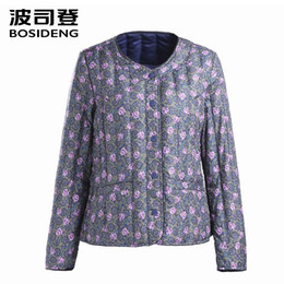 $enCountryForm.capitalKeyWord Canada - BOSIDENG womens clothing Spring down coat regular jacket ultra light flower color pattern slim clearance sale BIG SIZE B1501612