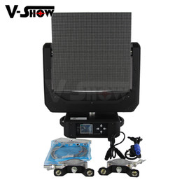 Moving Head Case Australia - Free shipping With road case 2pcsArt-net RGB colorful round led panel moving head dmx control stage light for dj disco