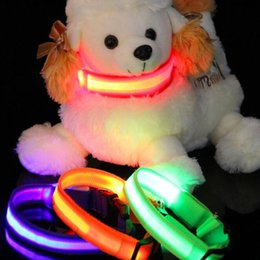 necklace dog collars chains Canada - luminous Multi Color Size Dog Collar Flashing USB LED Pet Collar Rechargeable Nylon Puppy Dog Collar Glowing Necklace